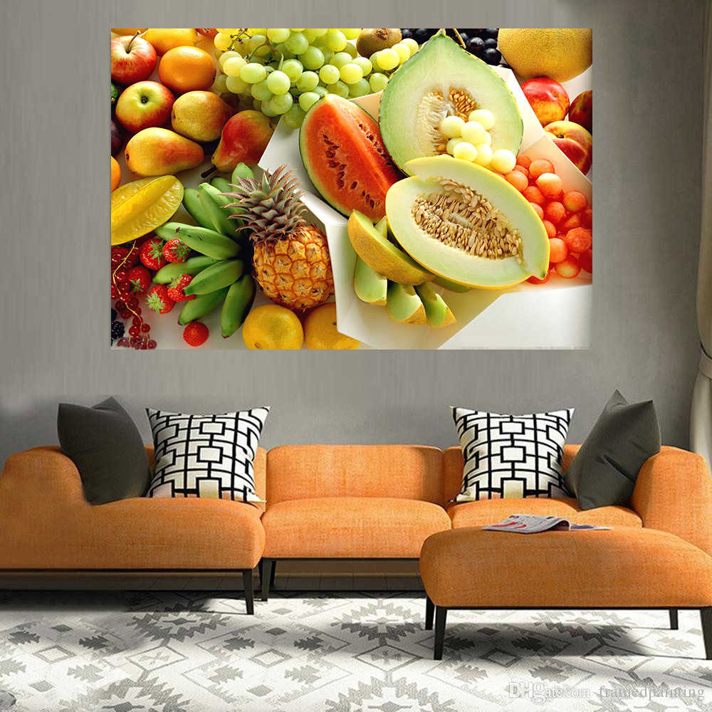 Wall Paintings Beautiful Kitchen Fruit Poster Prints Modern Oil Painting On Canvas Pictures For Living Room