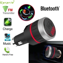 Alta Calidad Kit de Coche Bluetooth Reproductor MP3 Transmisor Fm Manos Libres Con El Cargador Del USB AUX