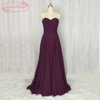SuperKimJo Adult Wedding Party Dresses 2018 A Line Cheap Purple Bridesmaid Dresses Long Vestidos De Madrinha