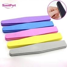 Sune l порт 100 шт Двухсторонние блоки для подпиливания ногтей разноцветная Губка ногтей для полировки и пескоструя буферные полоски маникюр с полировкой инструмент