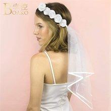 Венок boako свадебная фата для мальчишвечерние корона с розами