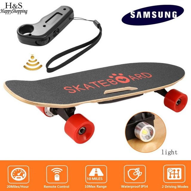 Electric Skateboard w/ Bluetooth Speaker & Front Light, w/ Remote Controller 5