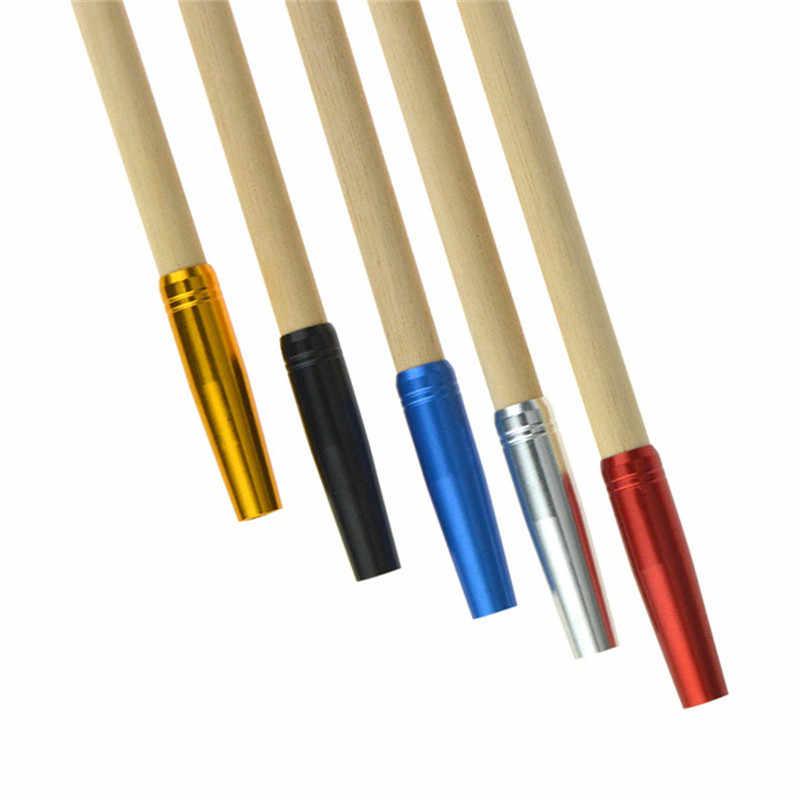 12 ピース SHRROW アルミ合金矢じりコネクタスライバー/ゴールド/ブラック/ブルー/レッド 8 ミリメートル外直径固体矢印ユニバーサル糸