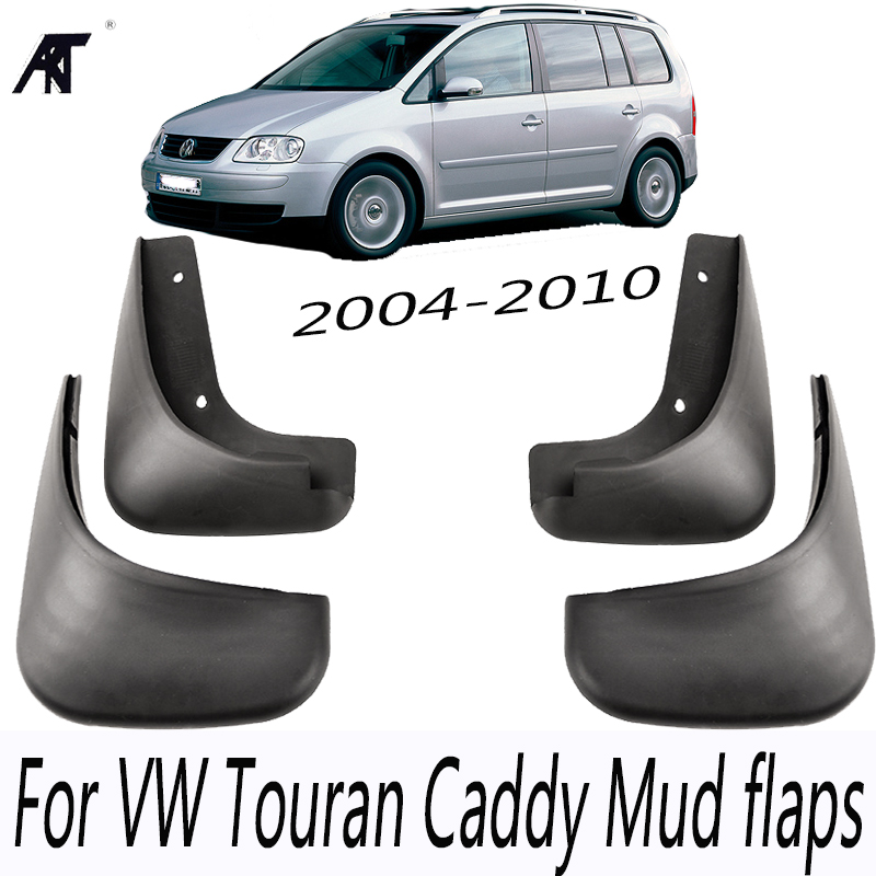 Mud Flap For VW Touran Caddy 2004-2010 Front Rear Car Mud Flaps Mudflaps Splash Guards Mudguards Fender fit for bmw x3 f25 11 15 molded mudflaps mud flap splash guard mudguards fender free shipping lzh