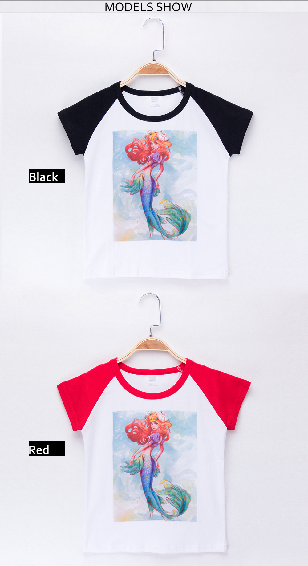 b477b554802 2019 New Children Clothes Kids T-shirts Beautiful Mermaid Hand Painted  Print Cotton Child Baby Boys T Shirt Girl Tops Infant Tee