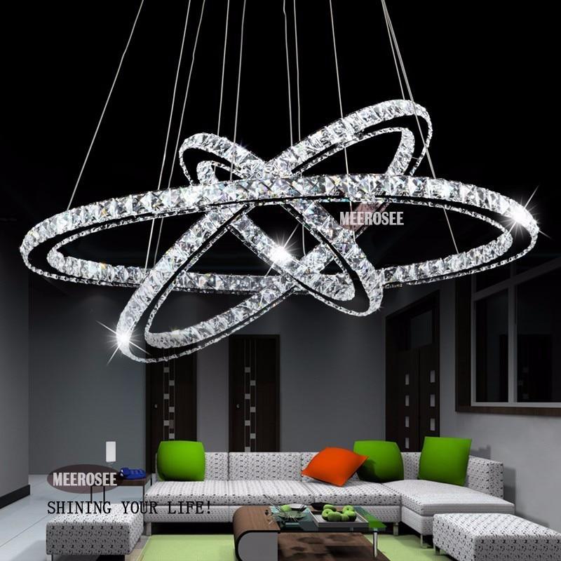 Modern 3 Tier Led Ring Chandelier Pendant Lamp Ceiling: Hot Sale Diamond Ring LED Crystal Chandelier Light Modern