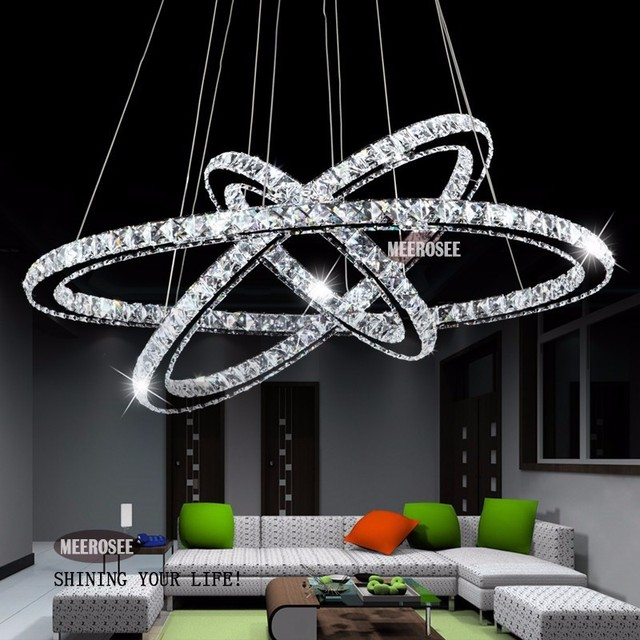 Hot Diamond Ring Led Crystal Chandelier Light Modern Lamp Circle 100 Guarantee Md8825