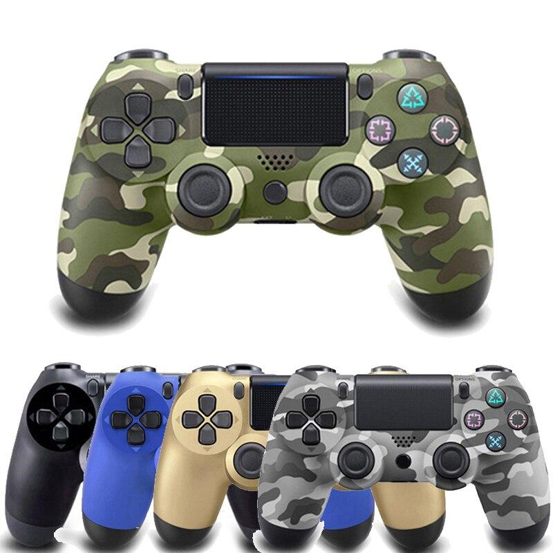 100% nuevo para Sony PS4 controlador inalámbrico Bluetooth para Playstation 4 controlador para Dualshock4 vibración Joystick Gamepad