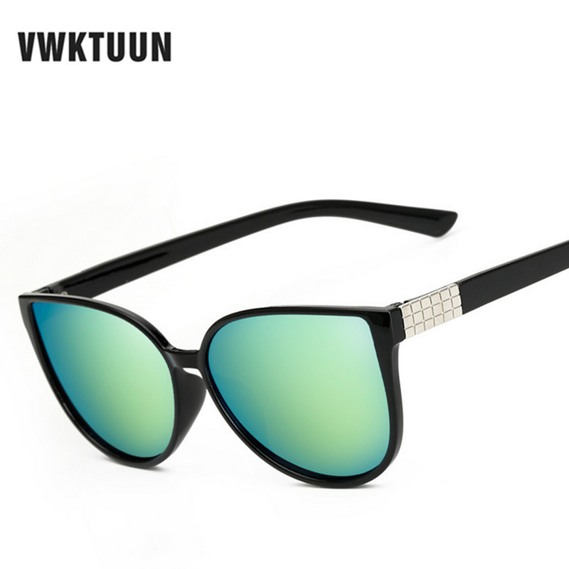 VWKTUUN Fashion Korean Oversized Vintage Sunglasses Women 2016 Sun Glasses For Women CatEye Woman Sunglass Retro Female New