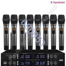 MICWL UHF Adjustable frequency 8 Handheld Wireless Microphone System for Stage KTV Karaoke