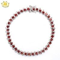 Hutang 9 45Ct Natural Garnet Solid 925 Sterling Silver S Link Bracelet For Women S Gemstone