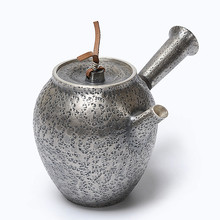 Pure Silver Wood burning Kettle Manual Tea Boiling Japanese Teapot Ceremony