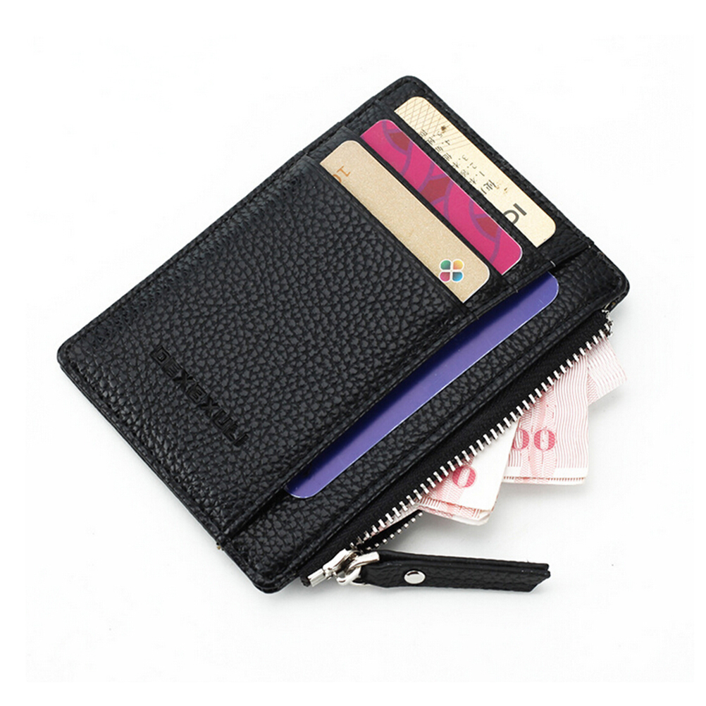 1PCS Assurance soft Leather Card Holder Black Red Quality Soft Business Fashion ID Credit Cards Holders For Men