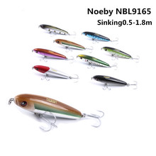 NOEBY NBL9165 Minnow 75mm 28g Fishing Lures Sinking0.5-1.8m Leurre Dur Peche Hard Baits Souple Shad with France VMC hook