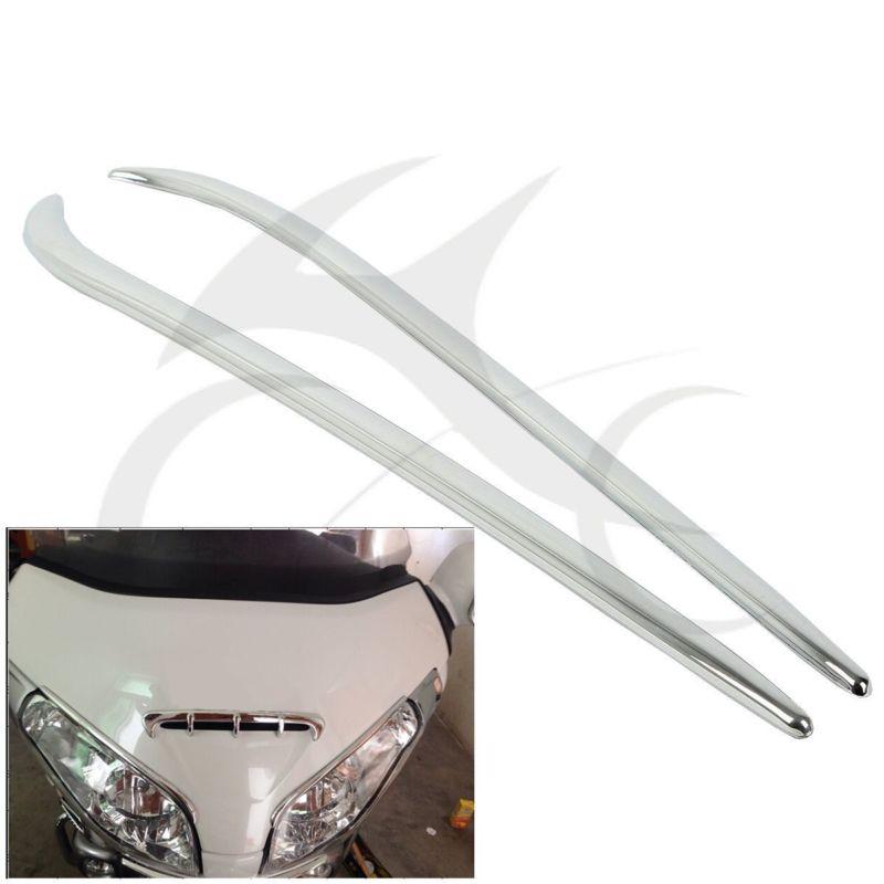 ABS Chrome Fairing Eyebrows Trim For Honda Gold Wing GL1800 2001-2011 08 09 10 neo chrome rear lower control arm lca for honda civic 2001 2005 e2c