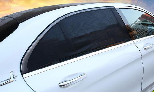 2Pcs Car Sun Shade UV Protection Car Curtain Car Window Sunshade Side Window Mesh Sun Visor Summer Protection Window Film New 2