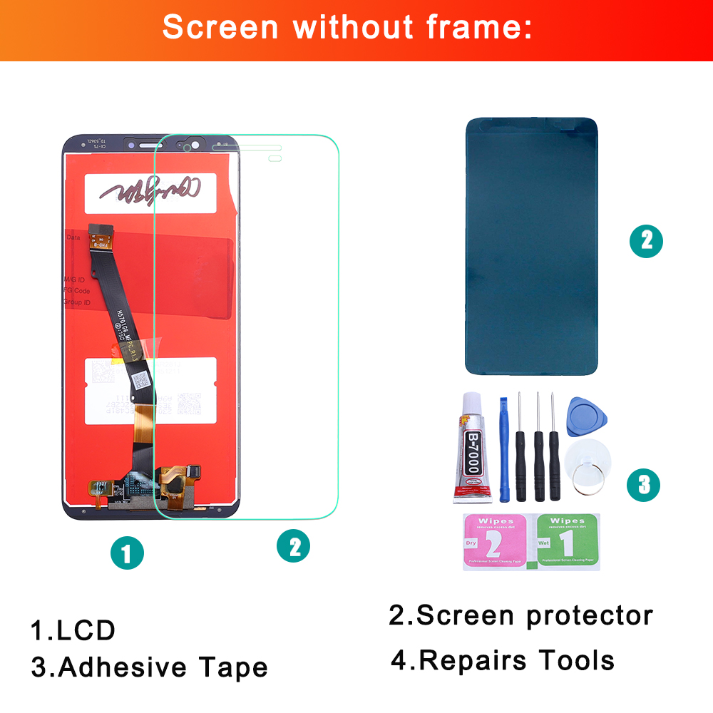 For Huawei P Smart LCD Display Touch Screen Digitizer Assembly For Huawei P Smart LCD With Frame FIG LX1 L21 L22 Screen in Mobile Phone LCD Screens from Cellphones Telecommunications