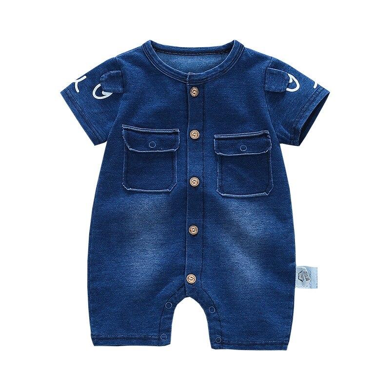 ee0796a8b74 2018 Soft Denim Baby Romper Graffiti Infant Clothes Newborn Jumpsuit Babies  Boy Girls Costume Cowboy Fashion