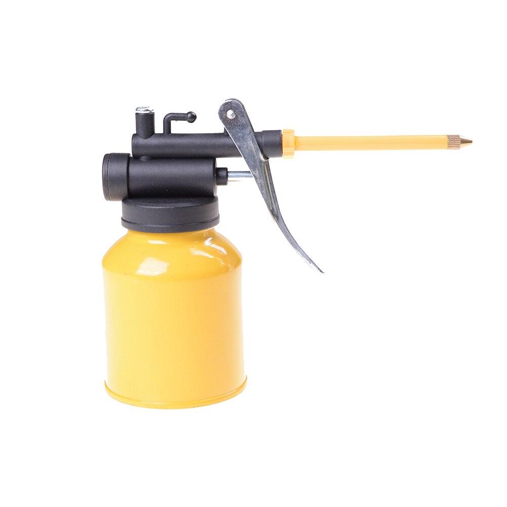 High Pressure Pump Action Oiler 250g Lubrication Feed Oil Can Spray Gun Pot