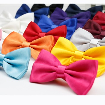 Men's Solid Fashion Bowties Groom Mens Plaid Two Tone Scaly Cravat For Men Butterfly Gravata Male Marriage Wedding Bow Ties image