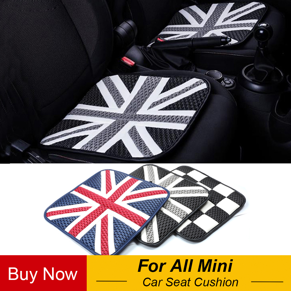 2pcs Ice Silk Car Seat Cushions Mat Pad Covers For Mini Cooper Jcw One+ S Countryman Paceman R60 R61 R55 R56 F55 F56 Car Styling