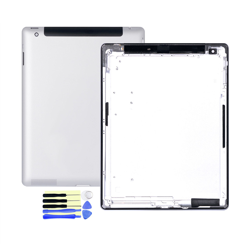 100% OEM Rear Housing For Apple iPad 4 5 6 Wifi / 3G Wifi/3G  Battery Cover Durable Protective Back Cover Case Replacement  PartsMobile Phone Housings