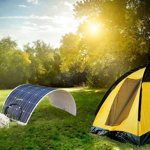 Dokio 100w Flexible Monocrystalline Solar Panel Kit For Home & RV & Boat 500w 1000w Flexible Solar Panel China Drop Shipping 3