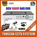 Super Nova AHD-H 8CH AHD DVR HD 1080 P Gravador de Vídeo H.264 CCTV Câmera de Rede Onvif 8 Canais NVR IP Multilanguage Com Alarme