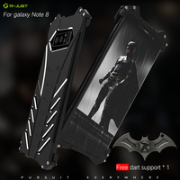 Luxury Armor Batman Cover For Galaxy Note 8 Metal Aluminum Coque Capinhas Mobile Phone Bag Cases
