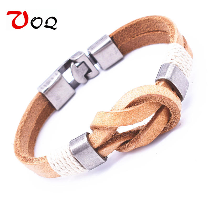 Pirate Style Bracelet Men Jewelry Wholesale Cuff Braided Wrap Leather Bracelets For Women Romantic Bowknot Gifts