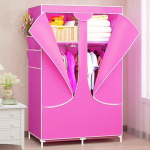Image 3 - Modern DIY Non woven Cloth Wardrobe Folding Clothes Storage Cabinet Dust proof Moisture proof Closet Bedroom Furniture