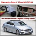 Car Camera for Mercedes Benz C MB W204 Connected with Original Screen Monitor and Rearview Backup Camera Original car screen
