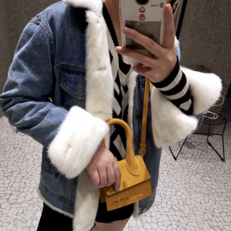 Femelle Multiples Vison bleu Le Veste Vessie Blanc Mode Femmes Couleurs 2018 Intérieure D'hiver Vers De Fourrure Bas rose Survêtement gris Robe Naturel jaune Réel Denim qR51Zw6U