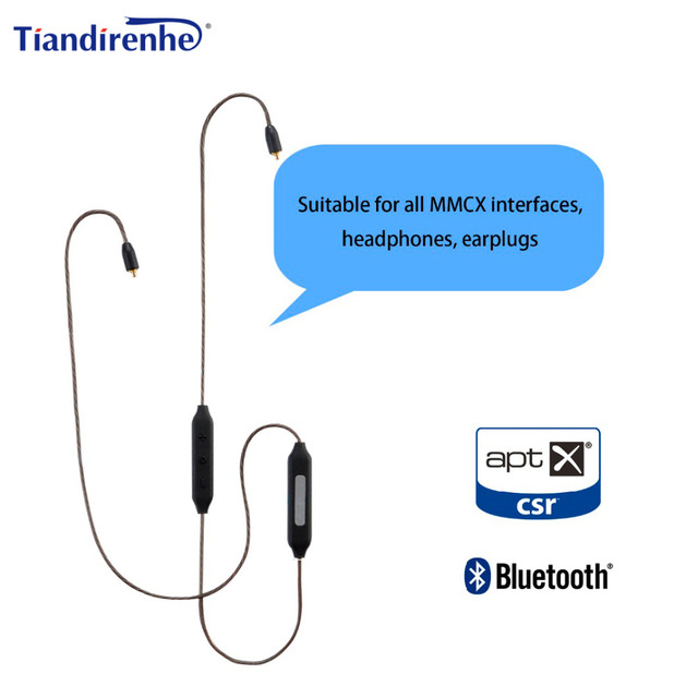 New Apt-X MMCX Cable Wireless Bluetooth 4.1 Cable HIFI Earphone Support Aptx Use for Shure SE215 SE535 SE846 UE900 Android IOS