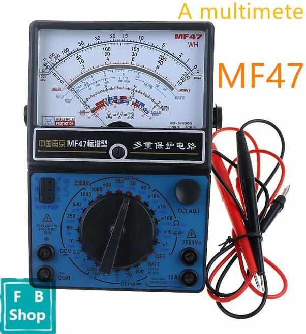 Mf47 Ac Dc Voltmeter Ampèremeter Ohmmeter Analoge Multimeter Onderscheidend Vanwege Zijn Traditionele Eigenschappen