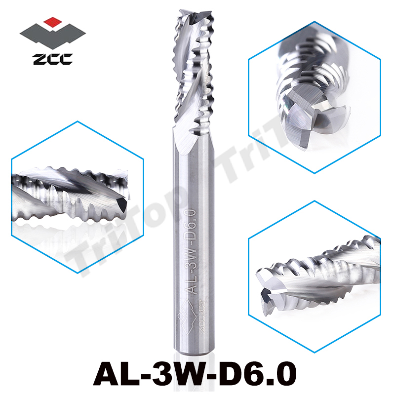 2PCS/LOT rough machining of Al alloy AL-3W-D6.0 solid carbide 3 flute flattened end mill 6mm straight shank and corrugated edges frances gillespie al haya al bahriya fee qatar sea and shore life of qatar