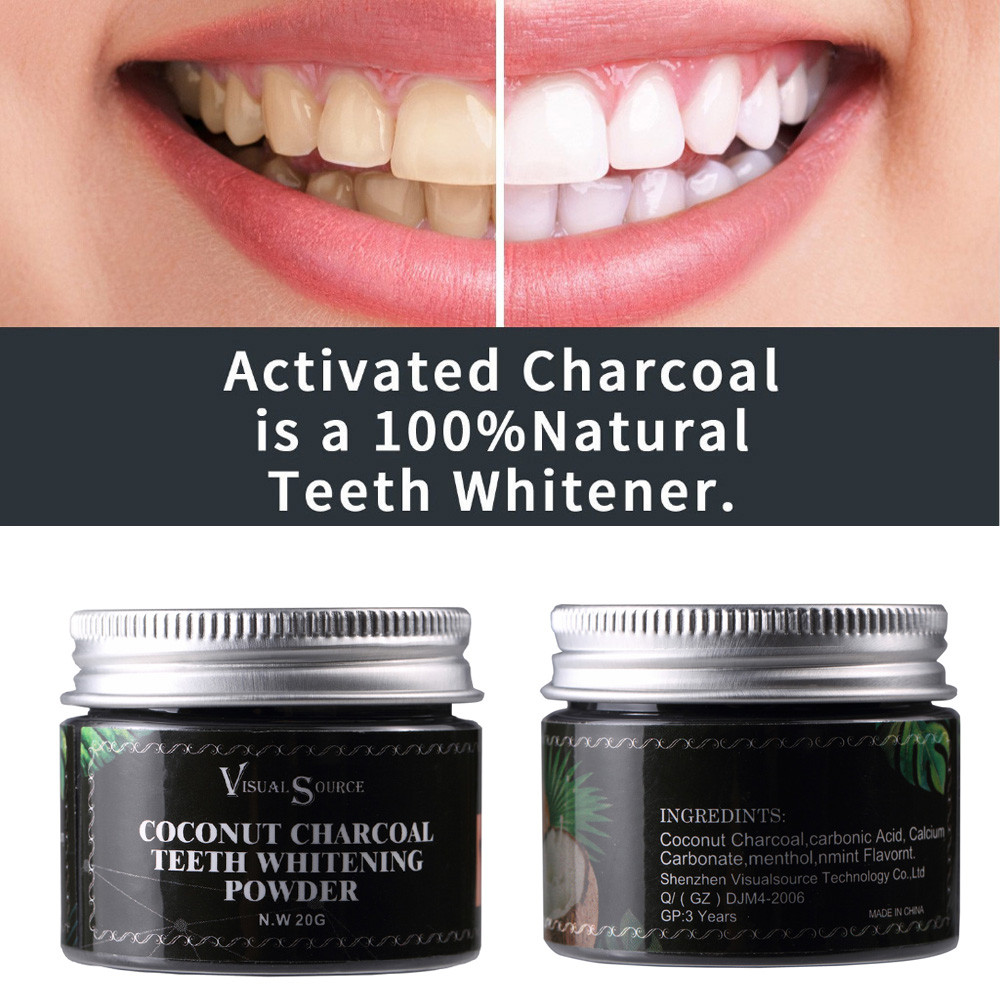 Tooth Powder Teeth Whitening Herb Coconut Toothpaste Whitening Teeth Remove Halitosis Plaque Dentifrice 20g Toothpaste