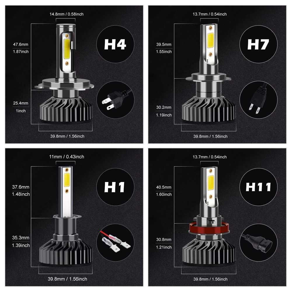 Infitary фар автомобиля H7 светодиодный H4 светодиодный H1 H11 H3 H13 H27 880 9006 9007 72 Вт 8000LM 6500 K 12 V 24 V авто фары противотуманная фара COB лампы
