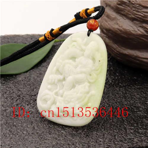 สีขาวธรรมชาติหยก Guanyin จี้สร้อยคอสร้อยคอสร้อยคอสร้อยคอสร้อยคอสร้อยคอสร้อยคอสร้อยคอสร้อยคอสร้อยข้อมืออัญมณีแฟชั่นอุปกรณ์เสริม Man ผู้หญิง Lucky Amulet ของขวัญ