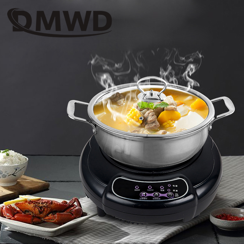 DMWD Household Mini Electric Induction Cooker Milk Water Coffee Heating Stove Teapot Noodle Boiler Travel Heater Cook Hot Plate