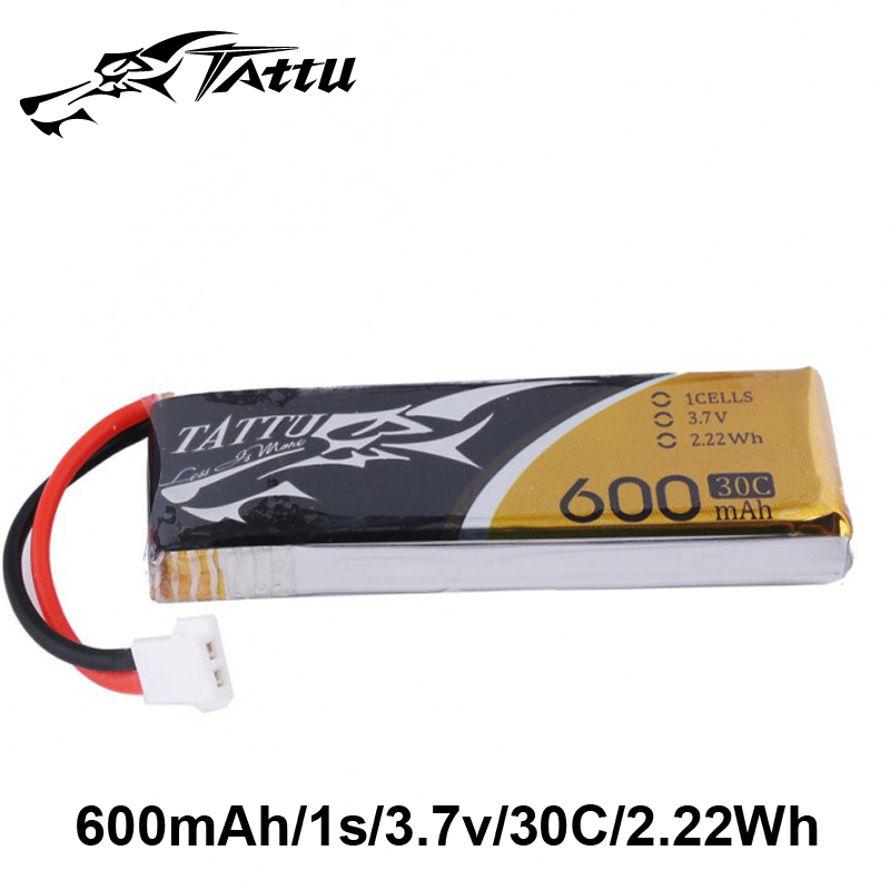 6 PCS/LOT TATTU Lipo Battery 3.7v 600mAh Lipo 1s 30C Battery with Molex Plug Batterieas for MXQ QX180 Quadcopter RC Helicopter image
