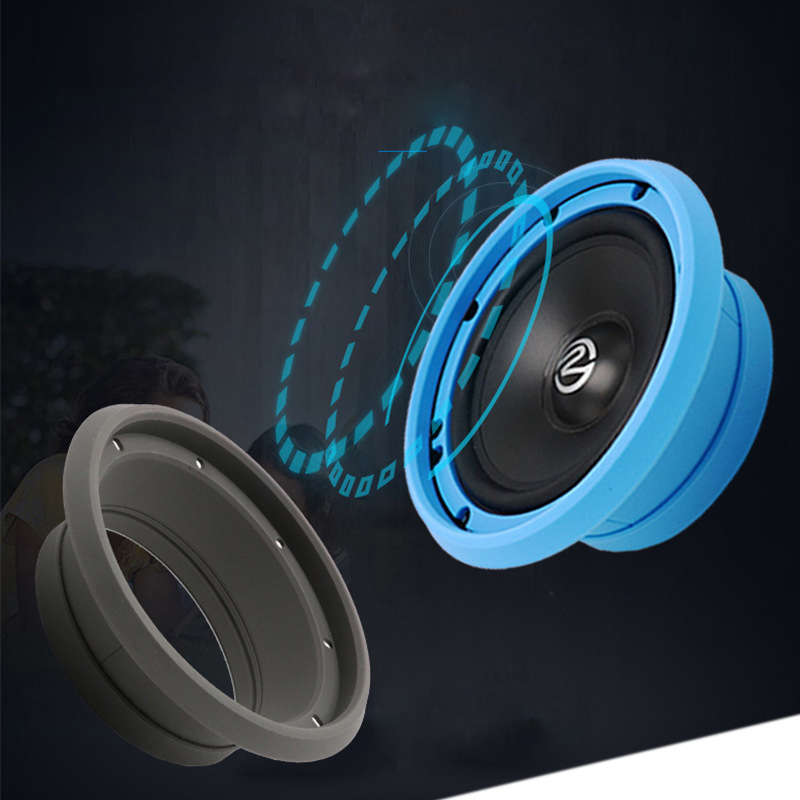 "1PC 6.5"" Car Speakers Spacer Washer Silicone Waterproof Blue Door Speaker Mounting Bracket Spacer Ring Adapter Plates"