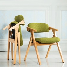 dining room foldable chair household stool office meeting room chair green brown ect color free shipping