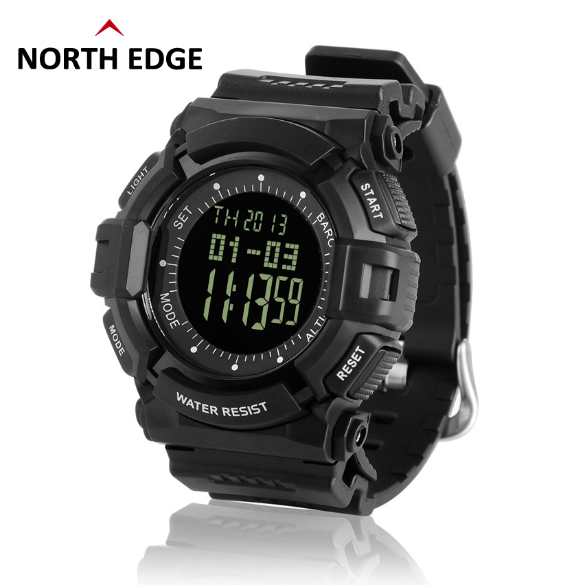 Men smart sports fishing altimeter barometer thermometer weather forecast pedometer watches for Watches digital