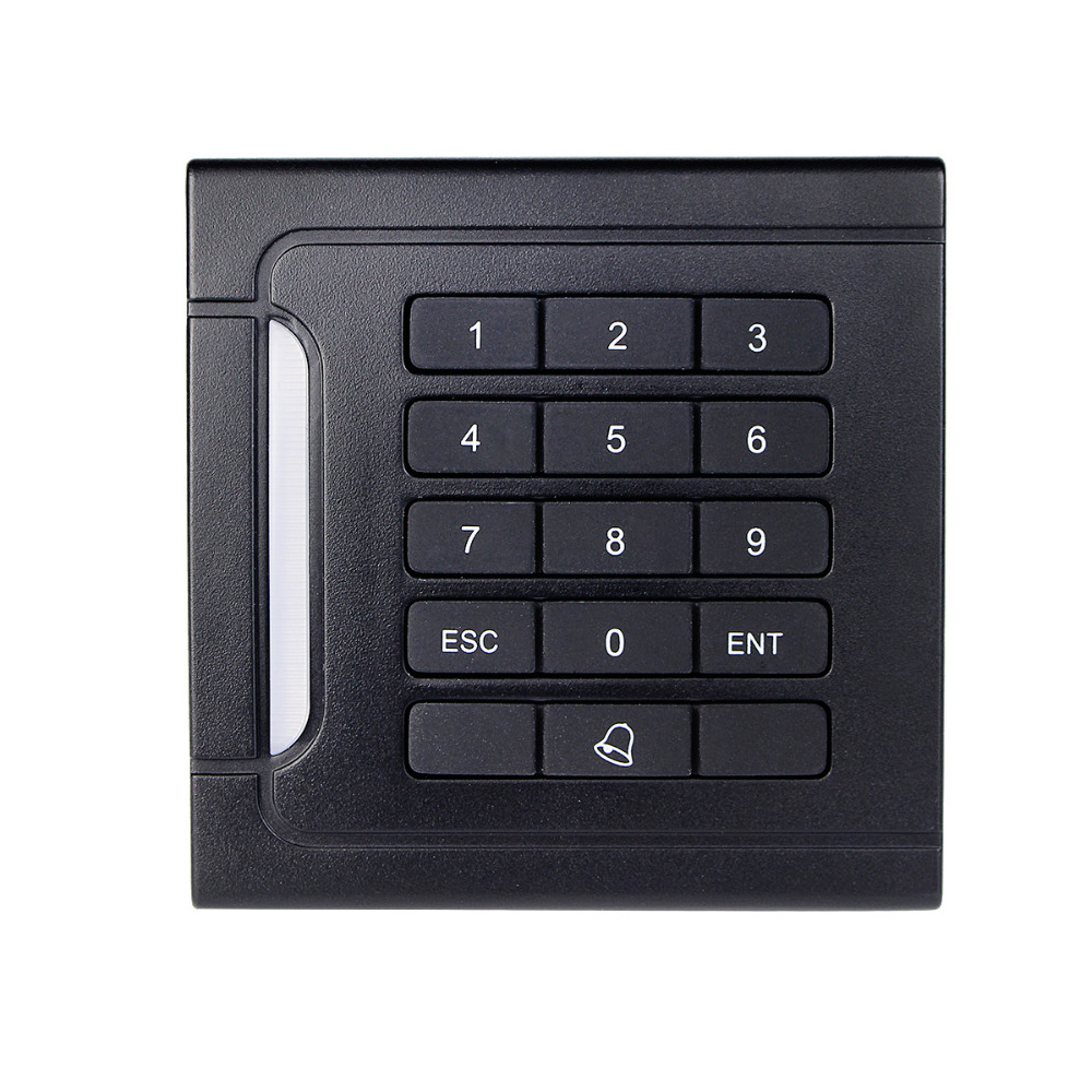 For Home Security WG26/34 EM-ID Card Reader 125kHz Door Access Control System With Keypad For RFID Card Waterproof F1710A
