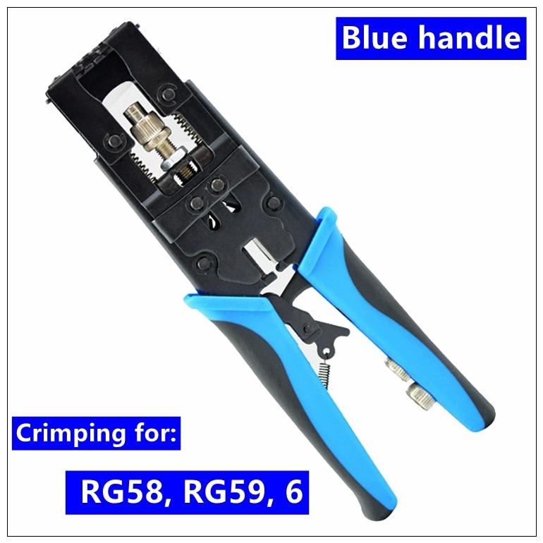 MXITA Coax Compression Connector Crimping Tool Adjustabl Wire Cutter for RG58 RG59 RG6 Waterproof Connector F BNC RCA