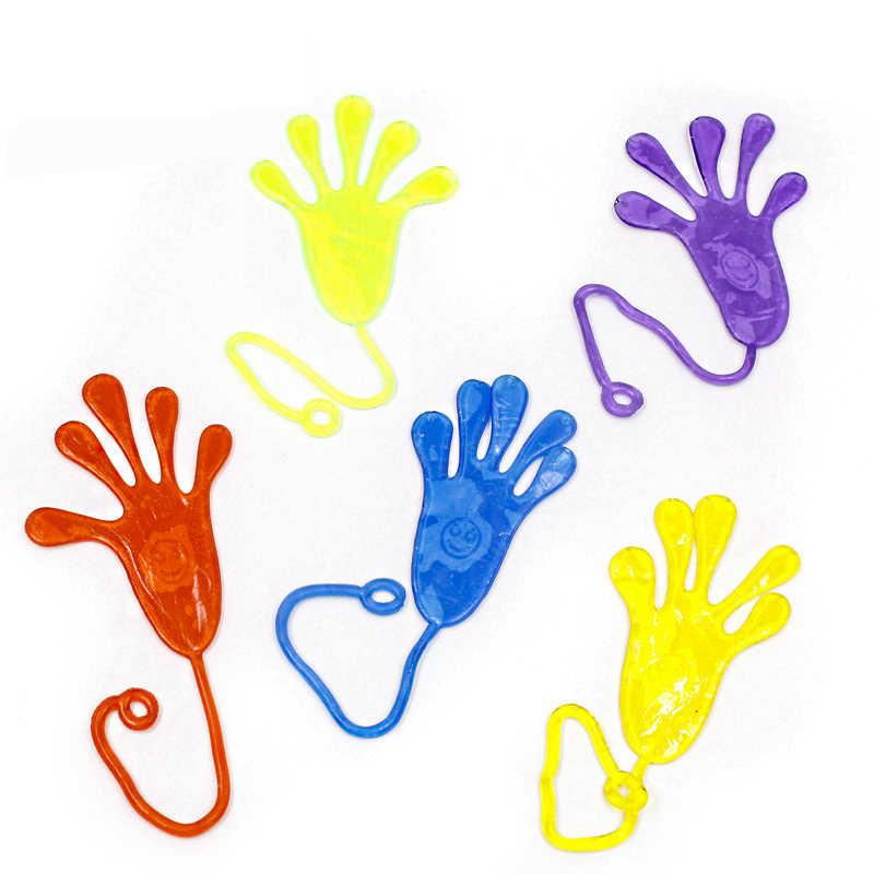 5PCS Engraçado Mole Squishies Elasticamente Extensível Mãos Pegajosas Palma Tapa Pegajosa Pegajoso Colorido Brinquedo Da Novidade Para O Divertimento Dos Miúdos Piada