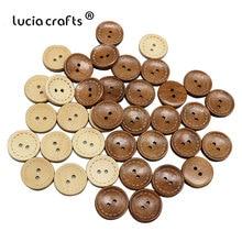 Lucia crafts букет невесты 6 штук в партии 24 шт. 20 мм с 2 отверстиями круглые деревянные пуговицы лазерной маркировки натуральный пуговицы, аксессуары для одежды E0120