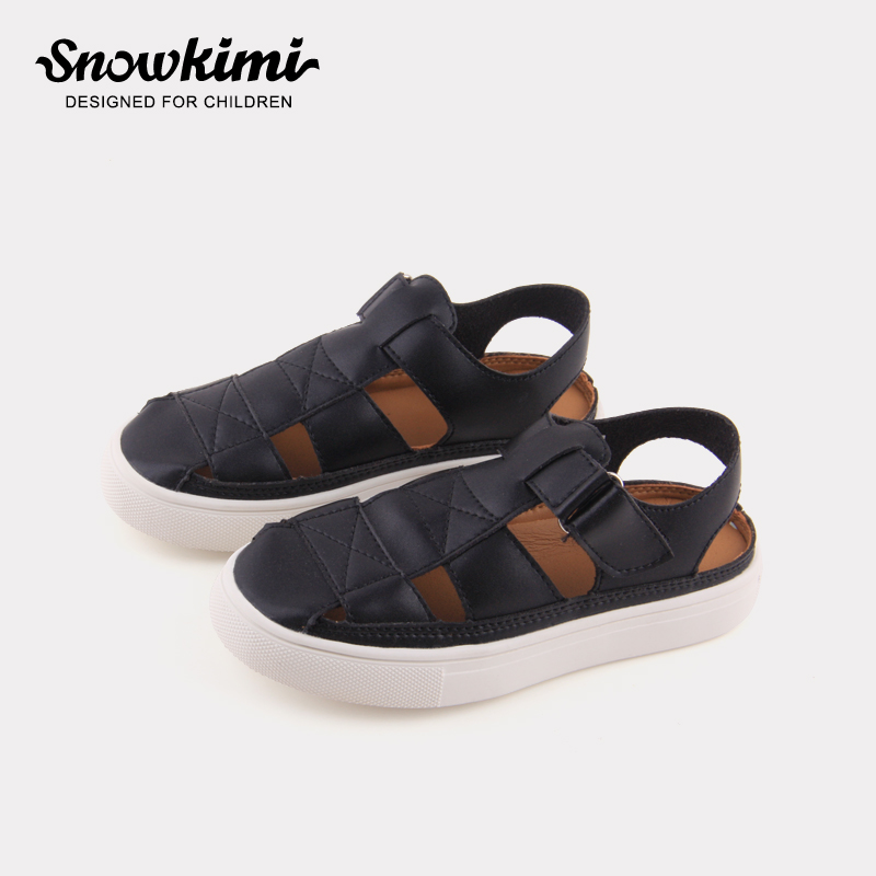 Snowkimi Baby Boy Protective Toecap Sandals 2018 Summer Girl Children Toddler Shoes Flat With Breathable 3-14 Years Old Hot Sale цена