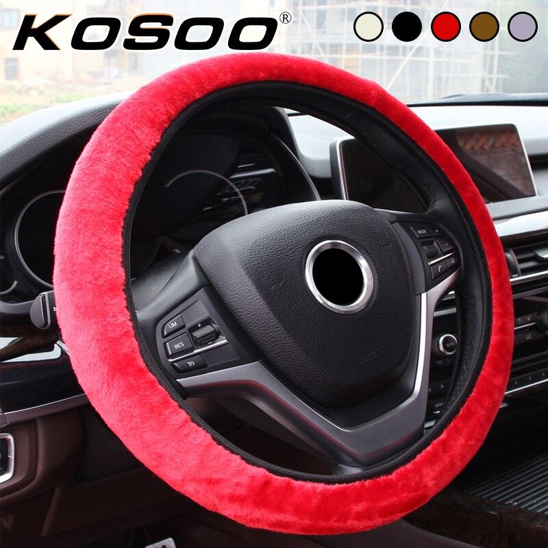 KOSOO Car Styling Car Steering Wheel Cover Comfortable Elastic Universal Winter Non-slip Steering Wheel Cover Auto Accessories